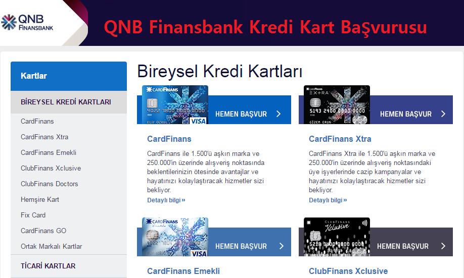 qnb finansbank kredi kart basvurusu